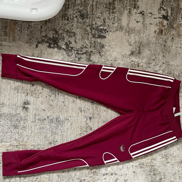 Size small adidas maroon track pants